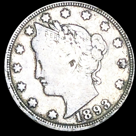 1893 Liberty Victory Nickel NICELY CIRCULATED