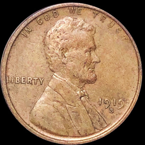 1919-S Lincoln Wheat Penny NEARLY UNCIRCULATED