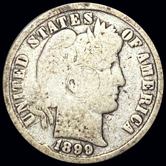 1899 Barber Silver Dime NICELY CIRCULATED
