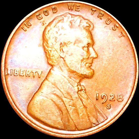 1928-S Lincoln Wheat Penny CLOSELY UNCIRCULATED