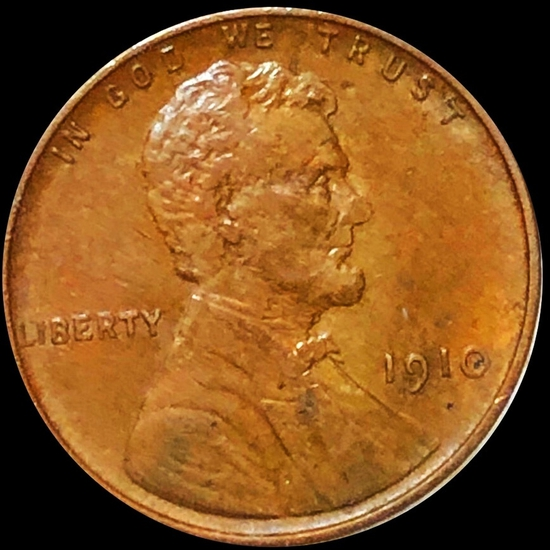 1910 Lincoln Wheat Penny LIGHTLY CIRCULATED