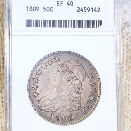 1809 Capped Bust Half Dollar ANACS - EF40