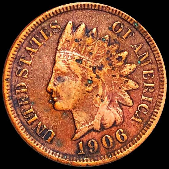 1906 Indian Head Penny LIGHTLY CIRCULATED