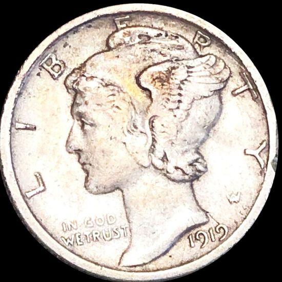 1919-S Mercury Silver Dime CLOSELY UNC