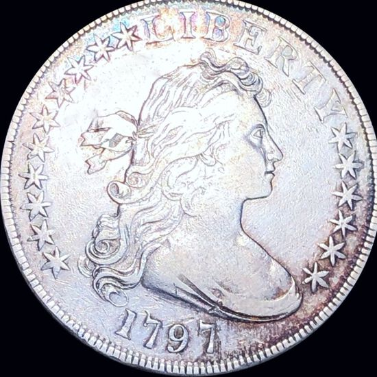 1797 Draped Bust Dollar NEARLY UNCIRCULATED