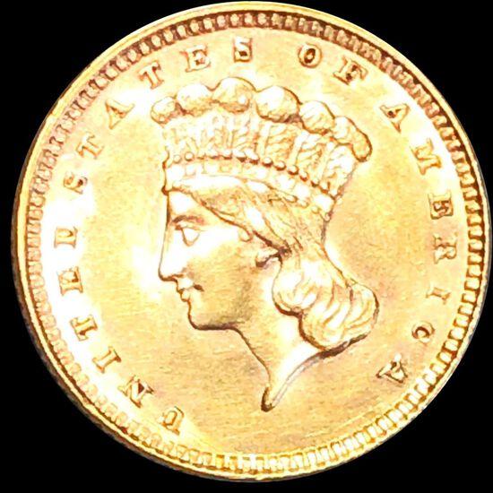 1857 Rare Gold Dollar UNCIRCULATED