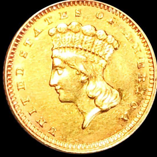 1862 Rare Gold Dollar UNCIRCULATED