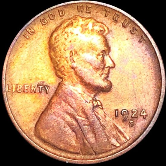 1924-S Lincoln Wheat Penny LIGHTLY CIRCULATED