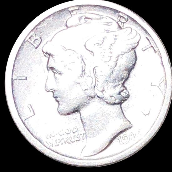 1923-S Mercury Silver Dime NEARLY UNCIRCULATED