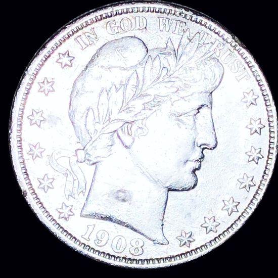 1908 Barber Half Dollar AU+