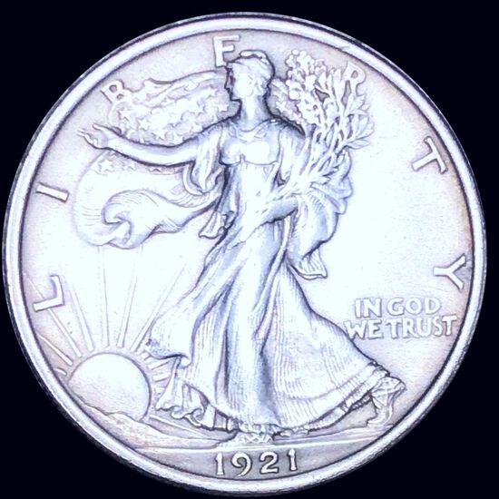 1921 Walking Half Dollar XF+