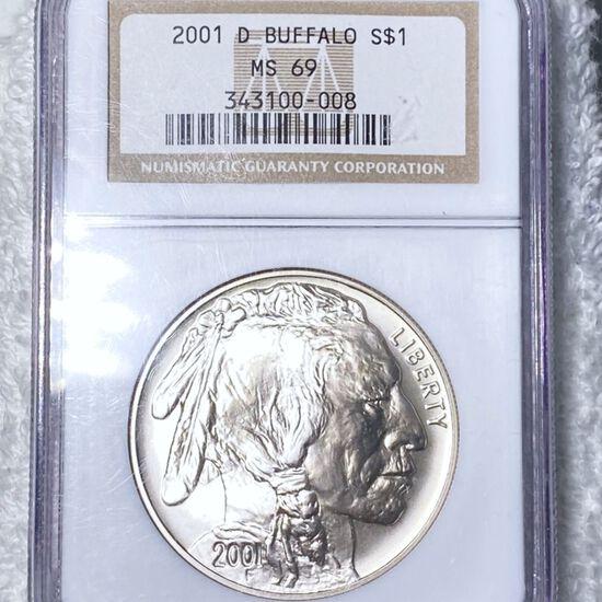 2001-D Buffalo Head Silver Dollar NGC - MS69