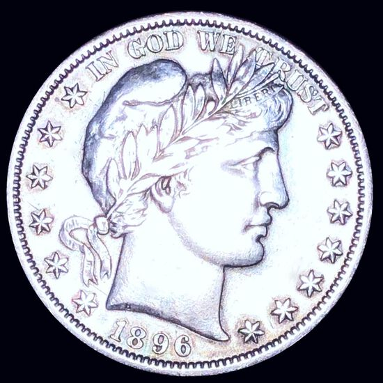 1896-S Barber Half Dollar AU+