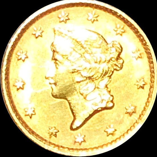 1854 Rare Gold Dollar UNCIRCULATED