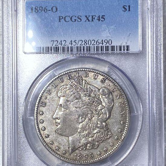 1896-O Morgan Silver Dollar PCGS - XF45