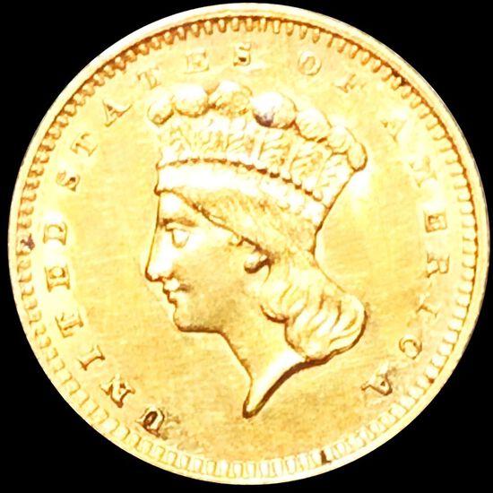 18?? Rare Gold Dollar UNCIRCULATED