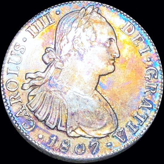 1807 Mexican Silver 8 Reales NEARLY UNC