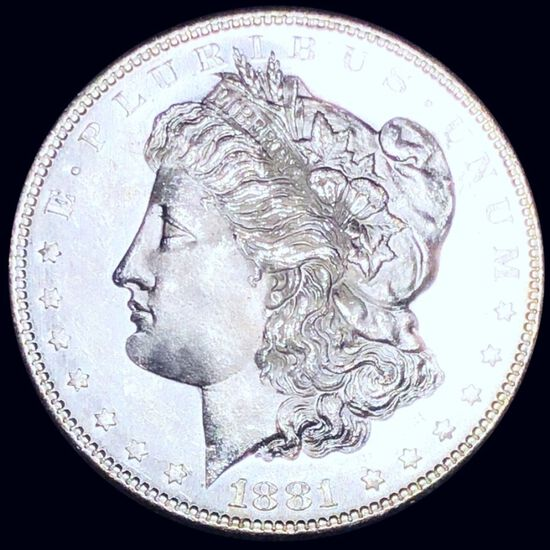 1881-S Morgan Silver Dollar GEM BU PL