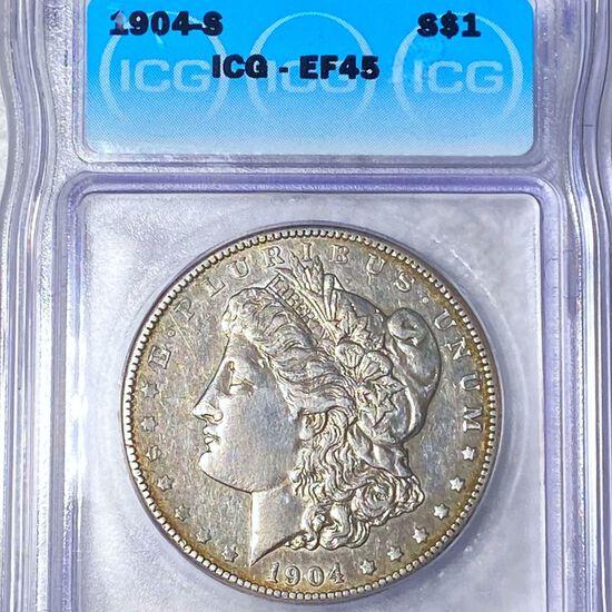 1904-S Morgan Silver Dollar ICG - EF45