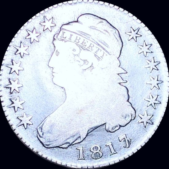 1817/3 Capped Bust Half Dollar NICELY CIRCULATED