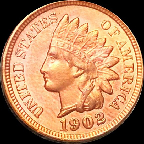1902 Indian Head Penny CLOSELY UNCIRCULATED