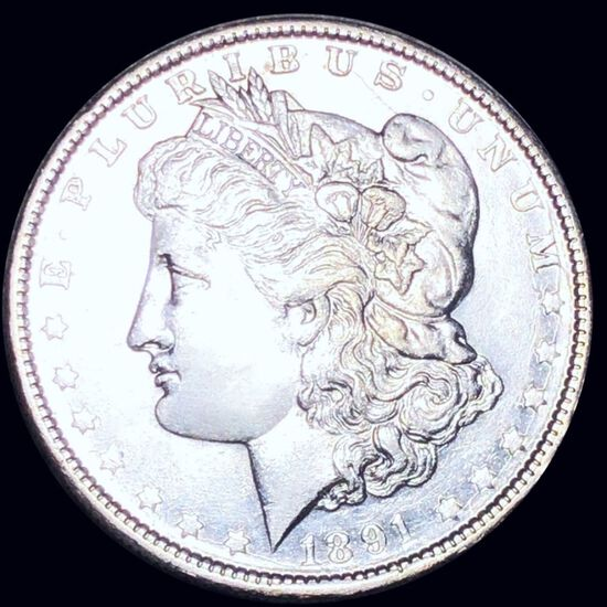 1891-O Morgan Silver Dollar CLOSELY UNCIRCULATED