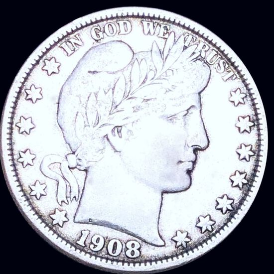 1908-O Barber Half Dollar LIGHTLY CIRCULATED