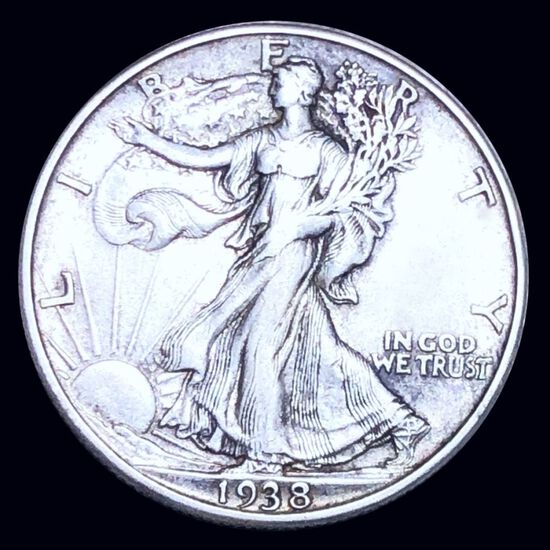 1938-D Walking Half Dollar NEARLY UNCIRCULATED