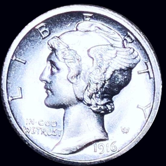 1916-S Mercury Silver Dime UNCIRCULATED