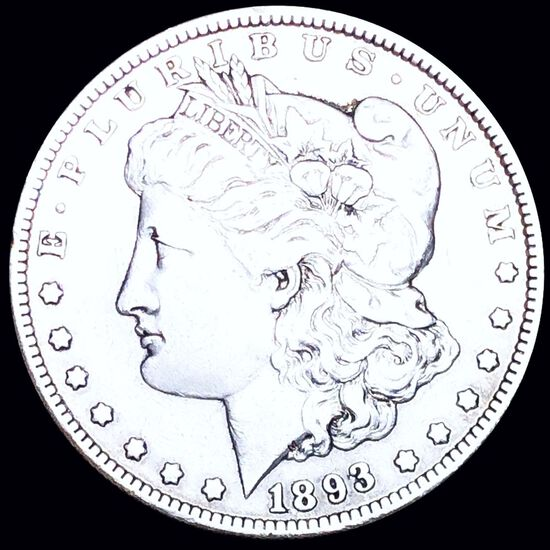 1893-O Morgan Silver Dollar LIGHTLY CIRCULATED