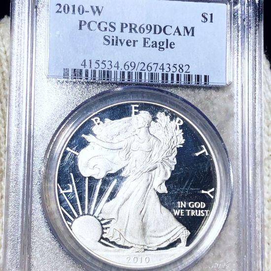 2010-W Silver Eagle PCGS - PR 69 DCAM