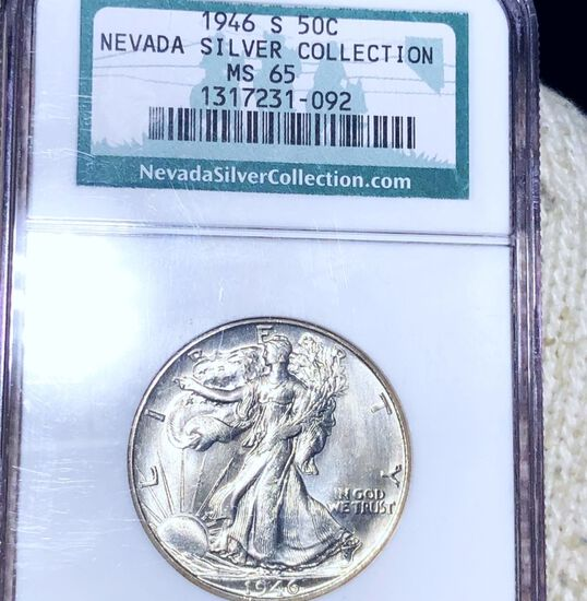 1946-S Walking Half Dollar NGC - MS65 NEVADA