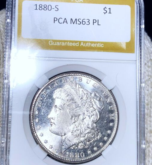 1880-S Morgan Silver Dollar PCA - MS 63 PL