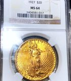1927 $20 Gold Double Eagle NGC - MS64