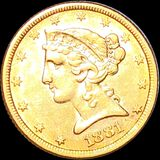 1881 $5 Gold Half Eagle CLOSELY UNCIRCULATED