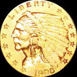 1908 $2.50 Gold Quarter Eagle LIGHTLY CIRCULATED