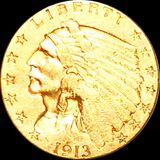 1913 $2.50 Gold Quarter Eagle CLOSELY UNCIRCULATED