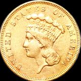 1855 $3 Gold Piece UNCIRCULATED