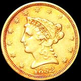1852 $2.50 Gold Quarter Eagle ABOUT UNCIRCULATED