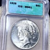 1928 Silver Peace Dollar ICG - MS61