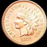 1874 Indian Head Penny UNCIRCULATED