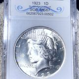 1923 Silver Peace Dollar SGS - MS67