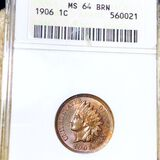 1906 Indian Head Penny ANACS - MS 64 BRN