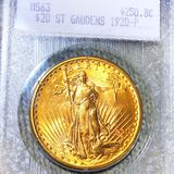 1920 $20 Gold Double Eagle BLANCHARD - MS63