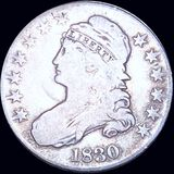 1830 Capped Bust Half Dollar NICELY CIRCULATED