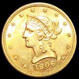 1906-D $10 Gold Eagle UNCIRCULATED
