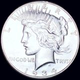 1934-S Silver Peace Dollar CLOSELY UNCIRCULATED