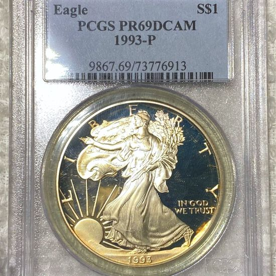 1993 Silver Eagle PCGS - PR 69 DCAM