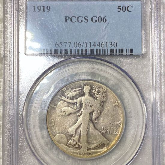 1919 Walking Half Dollar PCGS - G06
