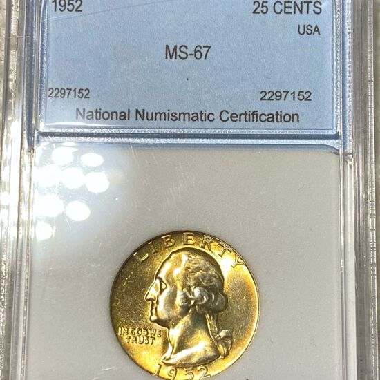 1952 Washington Silver Quarter NNC - MS67